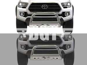 Bgt For 2016 2018 Toyota Tacoma Front Bull Bar With Skid Plate Bumper Guard Ss