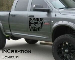 Dodge Charger Ram Challenger Zombie Response Vehicle Logo Vinyl Decals Stickers