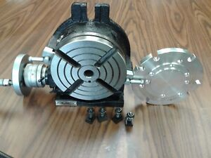 6 Horizontal Vertical Rotary Table W Centering Base Adapter in tsl6 adp new