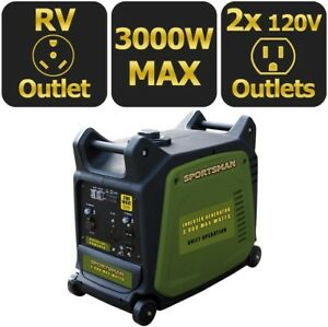 Inverter Generator Portable Gasoline Powered Muffler Digital Camping Jobsite Rv