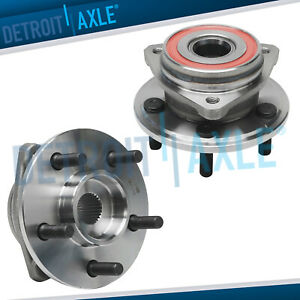 2 Front Wheel Bearing Hub For 1999 2001 Jeep Cherokee 1999 Exc Cast Rotor