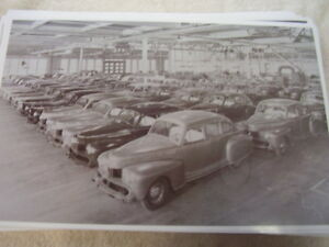 1946 Lincoln Assembly Line Car Storage Area 11 X 17 Photo Picture