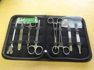 14 Us Military Field Style Medic Instrument Kit Medical Surgical Nurse Doctor