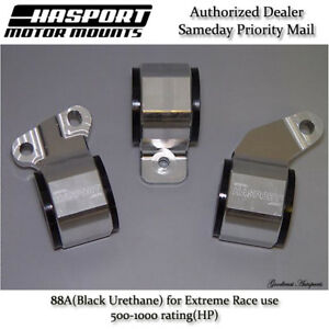 Hasport For 88 91 Honda Civic crx D series Obd0 Stock Replacement Mount Kit 88a