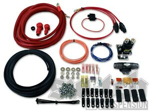 Dual Air Compressor Wiring Kit 4 Gauge Power Wire W Instructions Free 2day Ship