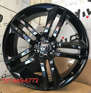 20 Rims Fit Honda Accord Civic Crv Sport Style Wheels Gloss Black Tire Package