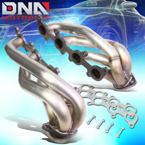 For 2011 2014 Ford F 150 5 0l V8 Pair Stainless Shorty Exhaust Manifold Headers