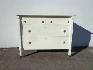 Antique Dresser Chest Of Drawers French Provincial Vintage Shabby Chic Cottage