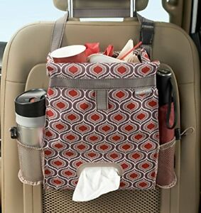 Car Back Seat Trash Bag Organizer Tissue Paper Holder Auto Accessories New