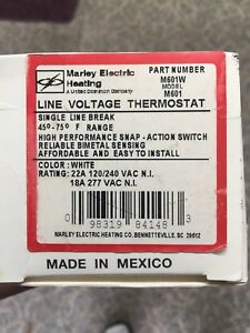 Marley M601w Line Voltage Thermostat New