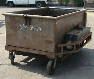 Cart Wheeled Dough Trough 40 Cubic Foot With Hydraulic Lift Gate used