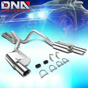 For 2005 2010 Ford Mustang 4 0l V6 Stainless Catback Exhaust System Muffler Tips