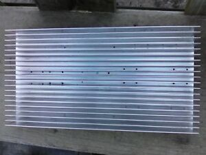 Used Large Finned Aluminum Heat Sink Measure 17 5 X 9 25 X 2 5 With Mounti