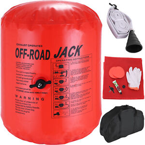 4t Ton Exhaust Inflatable Air Jack Bag Gas Car Vehicle Truck Rescue 11 Tool