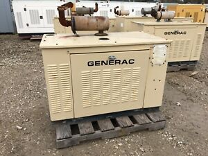 Generac Propane Generator 15kw Single Phase Sound Proof Enclosure 249 Hours
