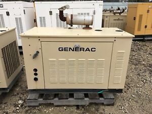 Generac Propane Generator 15kw Single Phase Sound Proof Enclosure 961 Hours