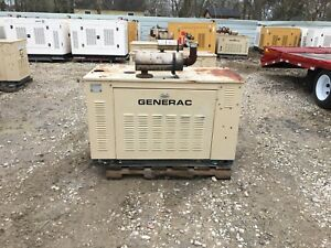 Generac Propane Generator 15kw Single Phase Sound Proof Enclosure 551 Hours