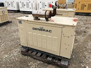 Generac Propane Generator 15kw Single Phase Sound Proof Enclosure 402 Hours