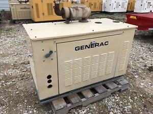 Generac Propane Generator 15kw Single Phase Sound Proof Enclosure 235 Hours