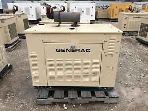 Generac Propane Generator 25kw Single Phase Sound Proof Enclosure 511 Hours