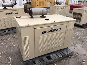Generac Propane Generator 15kw Single Phase Sound Proof Enclosure 489 Hours