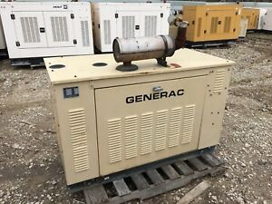 Generac Propane Generator 15kw Single Phase Sound Proof Enclosure 549 Hours