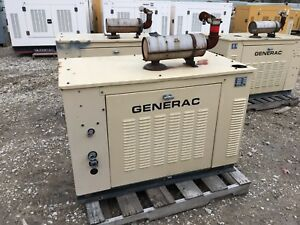 Generac Propane Generator 15kw Single Phase Sound Proof Enclosure 437 Hours