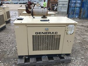 Generac Propane Generator 15kw Single Phase Sound Proof Enclosure 335 Hours