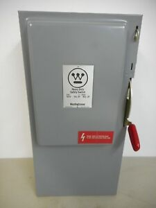 Westinghouse Hu323 100 Amp 240 Volt Indoor Non fusible Safety Switch Disconnect