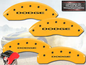2012 2018 Dodge Journey Front Rear Yellow Mgp Brake Disc Caliper Covers Bre