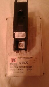 Cutler Hammer Type Ghb Circuit Breaker Single Pole 70 Amp Ghb1070
