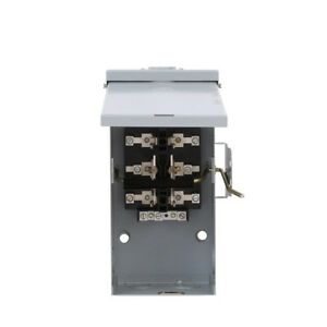 Emergency Power Transfer Switch 100 Amp 240 volt Non fused Double Throw By Ge