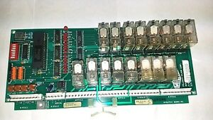 Milnor Pellerin Corp Frontload Washer Output Relay Board Part 08bs016bx