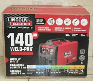 Lincoln Electric 140 Amp Weld Pak 140 Hd Mig Wire Feed Welder New Sealed