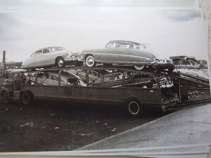 New 1952 Hudson On Car Carrier 11 X 17 Photo Picture