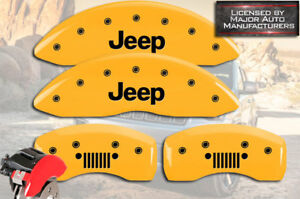 2007 2018 Jeep Compass Patriot Front Rear Yellow Mgp Brake Caliper Covers Grill