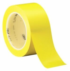 3m Vinyl Tape 471 Yellow 3 In X 36 Yd Conveniently Packaged pack Of 1