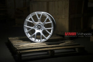 Vmr V810 18x8 5 9 5 5x112 Et35 33 Hyper Silver Staggered Wheel Set