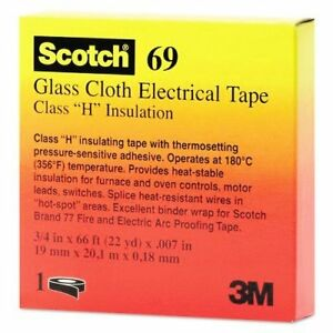 3m 3m Scotch 54007099109 Glass Cloth Silicone Adhesive Electrical Tape 392