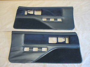 88 89 Firebird Trans Am Dlxe Door Panels Black Cloth Pm Pw Lh Rh Pair 0130 8