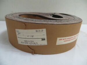 4 X 80 3m Cloth Resin Bond Sanding Belts 80 Grit New 25 Pcs