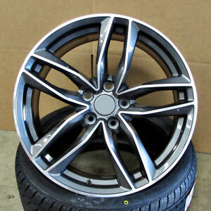 Audi S Line Rs6 Style 18x8 5x112 Et35 Gunmetal Machined Face Wheels Set Of 4