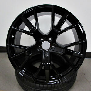 Audi S Line Style 21x9 5 5x112 Et35 Gloss Black Wheels Set Of 4 Rims