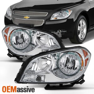 Fit 2008 2009 2011 2012 Chevy Malibu Driver Passenger Side Headlights Headlamps