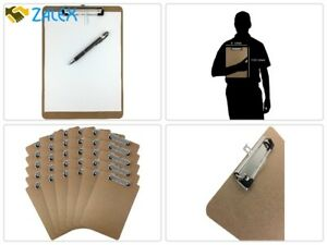 30 Pack Retractable Clipboards 9 X 12 5 Clip Hardboard Office Brown Board Lot
