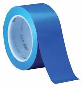 3m Vinyl Tape 471 Blue 4 In X 36 Yd Conveniently Packaged pack Of 1
