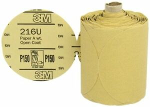 3m Stikit Gold Paper Disc Roll Psa Attachment Aluminum Oxide 5 Diameter