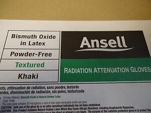 Box Of 5 Ansell Radiation Attentuation Gloves Exp Date 11 2017 Size 7