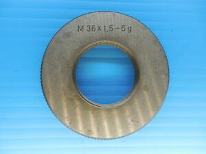 M36 X 1 5 6g Metric Thread Ring Gage 36 0 1 5 Quality Inspection Machinist Tool