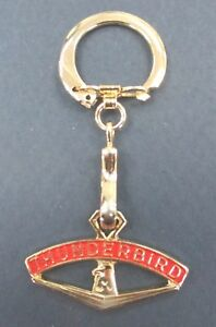 Your Grandad s Vintage Thunderbird Gold Key Ring T Bird W red Accents